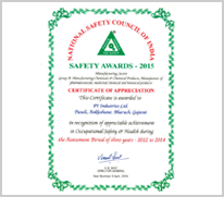 Pi japan pi won certificate of appreciation from national safety pi won certificate of appreciation from national safety council of india yelopaper Image collections